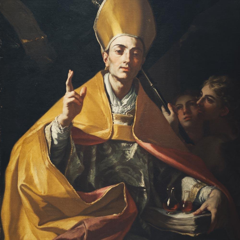 San Gennaro benedicente in un dipinto di Francesco Solimena