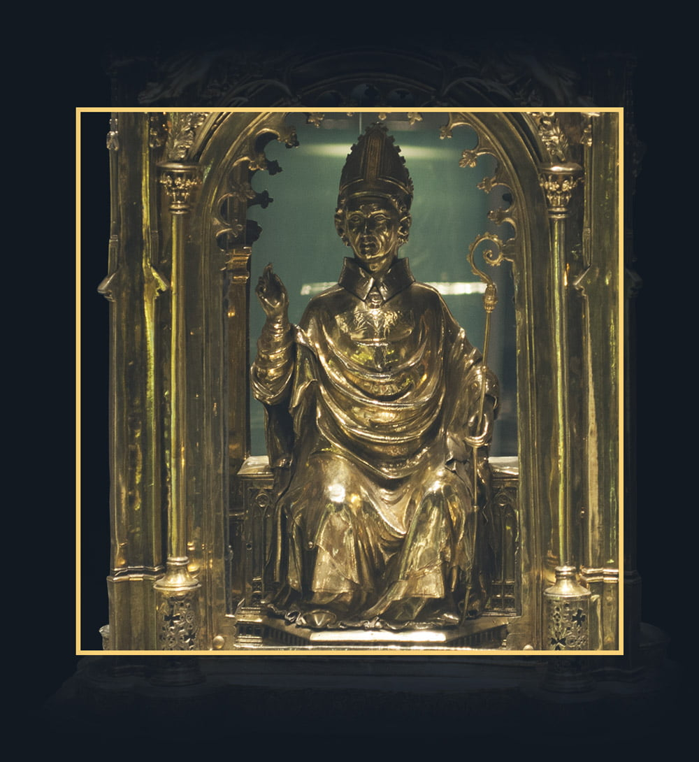 Detail of the Reliquary of St. Gennaro's blood