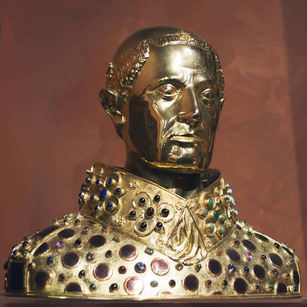 The relics of St. Gennaro kept in the bust